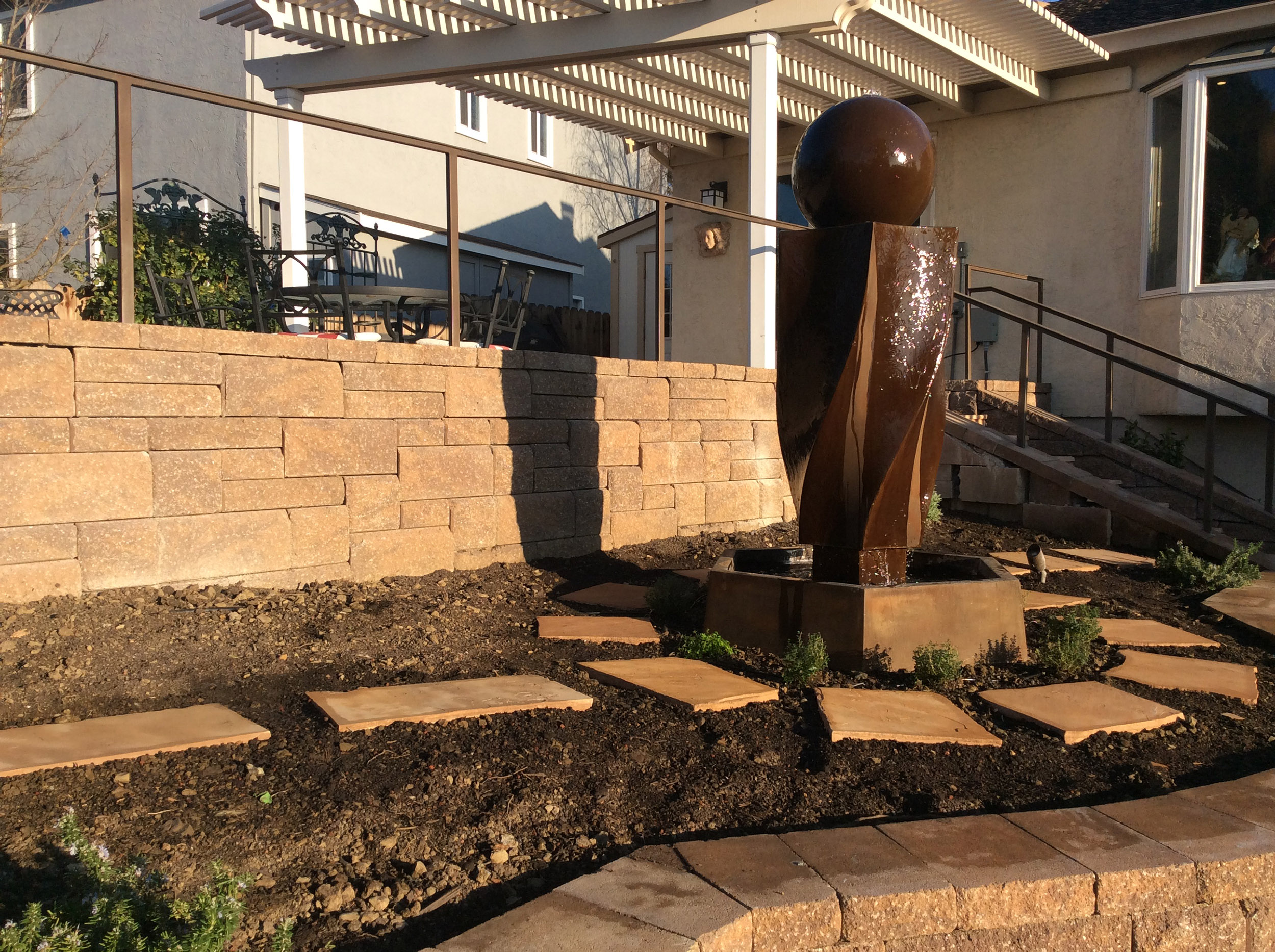 Retaining walls & art installation